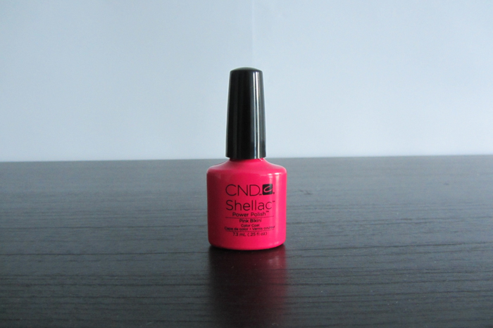 test manik re mit cnd shellac mit pink bikini. Black Bedroom Furniture Sets. Home Design Ideas